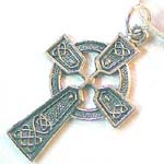 wholesale celtic jewelry, ancient Celtic cross pendant in sterling silver