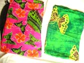 Crafted bali sarong with summer butterfly pattern