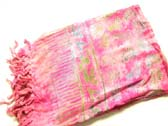 Pink sarong with beautiful multicolored bali pattern