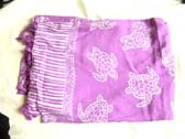 Sea turtle theme beach wear cover up in light purple