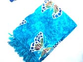 Spring butterfly pattern on blue resort wear sarong