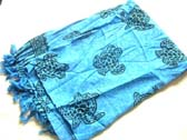 Ocean turtle print on royal blue fashion wrap