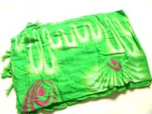 Artist designed green beach sarong
