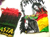 Bob Marley theme balinese fashion wrap dress