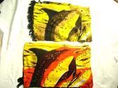 Swimming dolphin image on yellow balinese sarong