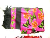 Butterfly and flower print designed holiday sarong