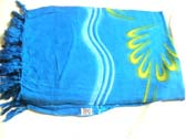 Ladies spring wrap around beauty sarong in blue