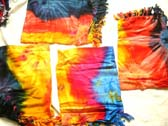 Dark colored tie dye adorned balinese island sarong