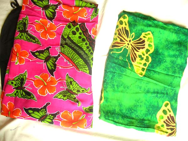 Online apparel supplier, Crafted bali sarong with summer butterfly pattern