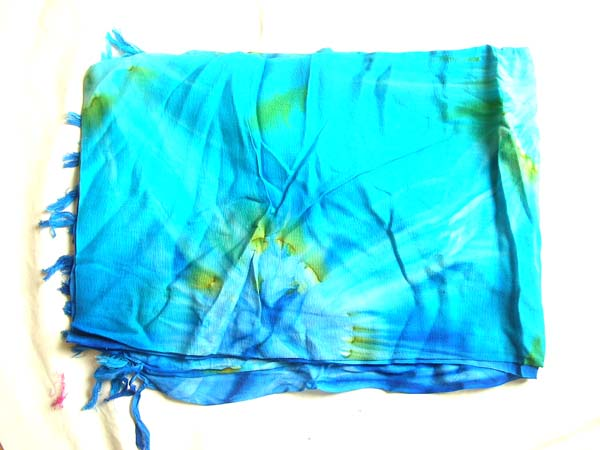 Balinese pareo sarong in blue with art theme design, Fashion cruise clothes online