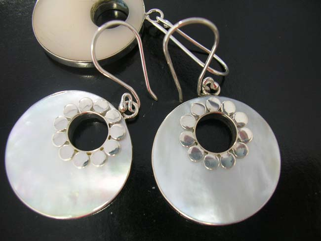 Birthday jewelry, elegant earrings, abalone sea shell accessories, silver trends, ladies exotic clothing, urban dress