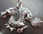 Oriental dragon pendant made of high quality 925 sterling silver